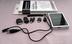 5種手機插頭的太陽能手機充電器
