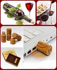 酒塞形狀木質環保U盤移動存儲器