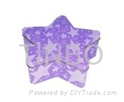 Chirstmas five-pointed star tin