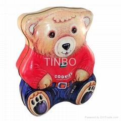 Teddy Bear cookies tin box