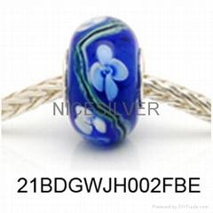 Silver Core Murano Bead