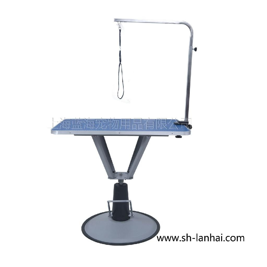 Dog Grooming Table Product : Round base hydraulic lift dog grooming table lt v