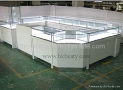 jewelry kiosk display showcase for jewelry shop or shopping mall