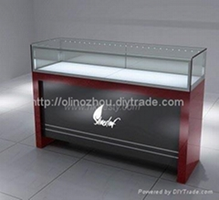 jewelry display counter or jewelry show counter for store or mall  with led