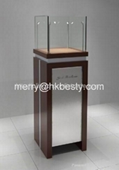 LED jewelry tower display showcase