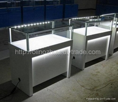 led jewelry display counter showcase for trade show display furniture