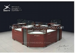 LED jewellery store display cabinet showcase and kiosk