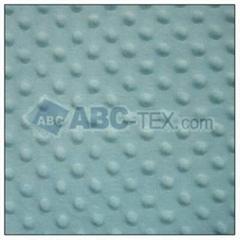 100% polyester minky dot velvet fabric