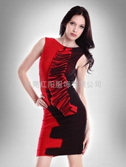 新款熱賣氣質性感迷人荷芙妮格繃帶禮服