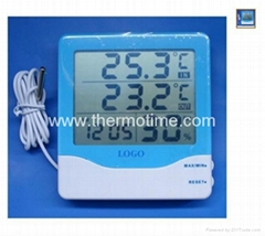 Digital Thermometer & hygrometer with clock TM820A