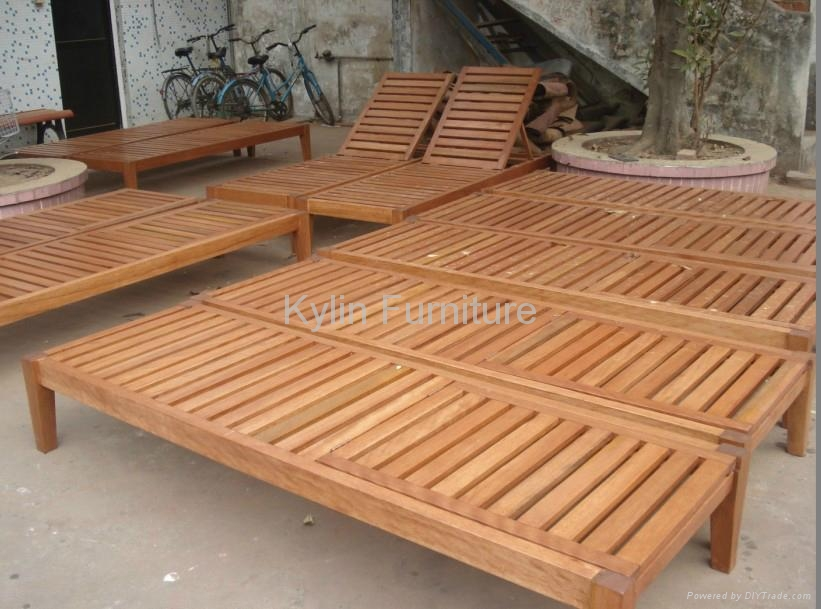 Poolside Bed hotel poolside solid wood sun bed - 9301 - kylin (china
