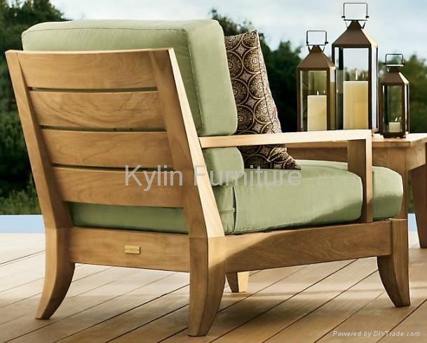 Outdoor Solid Wood Sofa Set China Manufacturer