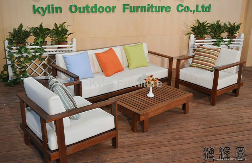 Bon Living Room Wood Sofa Set Design