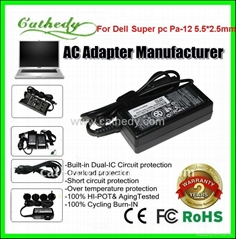 FOR DELL XPS 13 ULTRABOOK power adapter 19.5v 3.34a 5.5*2.5mm