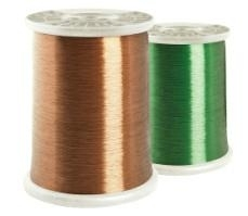 Polyimide enameled copper round wire