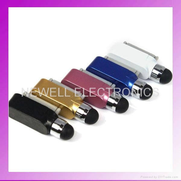 Dust Cap Stylus Touch For Apple iPhone 4S 4G 3G 3GS iPod Touch iPad 1/2 Dust Cup 1