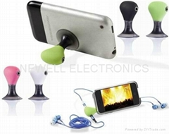 For iphone /ipod/ MP3/ MP4 /Mobile phone headphone splitter holder stand