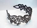 plastic headband with cute crystal