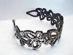plastic headband with cute crystal diamond