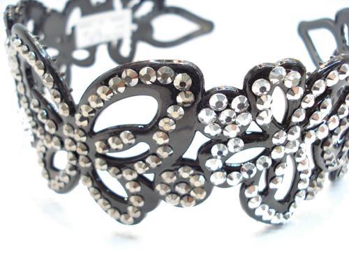 plastic headband with cute crystal diamond 3