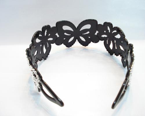 plastic headband with cute crystal diamond 4