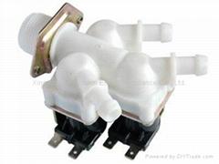 Plastic solenoid inlet valve with 3 ways channel DC AC 12v - 24v to 220v