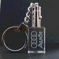 发光车标水晶钥匙扣