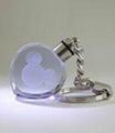 心形水晶内雕钥匙扣