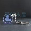 心形水晶内雕钥匙扣 2