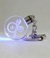 圆形水晶钥匙扣