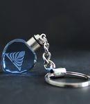 蓝色心形水晶钥匙扣