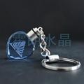 蓝色心形水晶钥匙扣 2