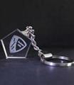 五边形水晶钥匙扣