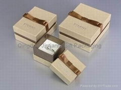 custom printed paper gift box for jewelry