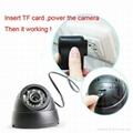 SD卡移动侦测录像半球红外摄像