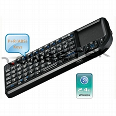 2.4G Ultra Mini Backlit Wireless Keyboard with Touchpad & Laser Pointer