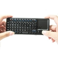 2.4G Ultra Mini Backlit Wireless Keyboard with Touchpad & Laser Pointer 2