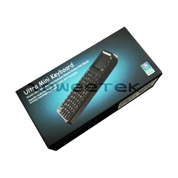 2.4G Ultra Mini Backlit Wireless Keyboard with Touchpad & White LED Light 5