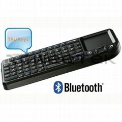 Ultra Mini Backlit Bluetooth Keyboard Mouse Touchpad & White LED Light