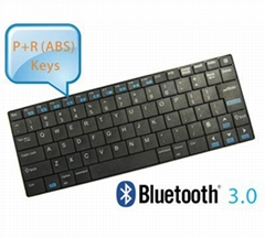 Stainless Steel Housing Mini Wireless Bluetooth Utra thin Keyboard