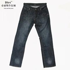 帝亞斯夏季新款促銷時尚休閑中腰直筒藍色牛仔褲