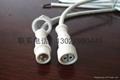 供應2芯護欄管專用防水連接插頭線  1