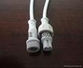 供應2芯軟燈條防水連接插頭線