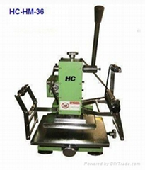 Manual hot stamping machine for security seals