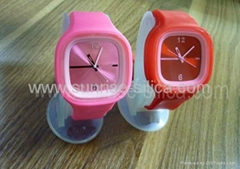 cheap silicone square jelly watch