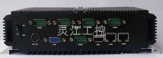 雙網口雙顯D525工控機 2