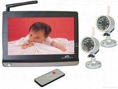 2.4G wireless surveillance cameras / wireless baby monitor / infrared camera