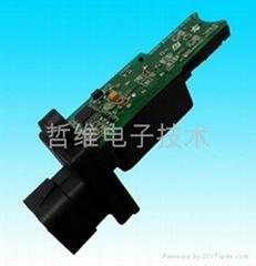 Vehicle door glass lifter motor clamp circuit board