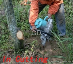 Concrete Diamond  Chainsaw Operating