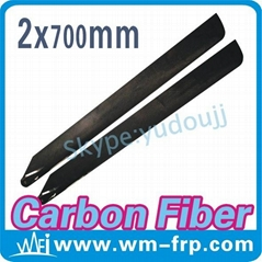 700mm carbon fiber main rotor blades for Align rc helicopter